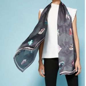 Ted Baker ASTRIX Mirrored Minerals Silk Scarf NEW